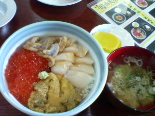 7月28日の昼ご飯~海峡荘(大間)~