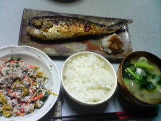10月30日の夕ご飯