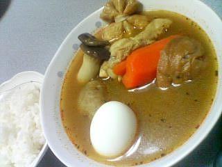 10月24日の夕ご飯:おでんスープカレー