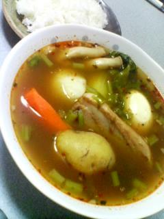 11月17日の夕ご飯:角煮スープカレー