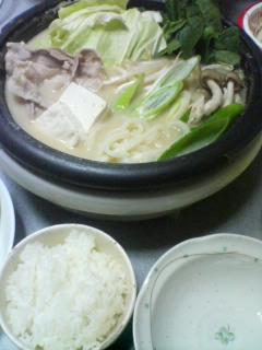 11月26日の夕ご飯:味噌キャベツ鍋