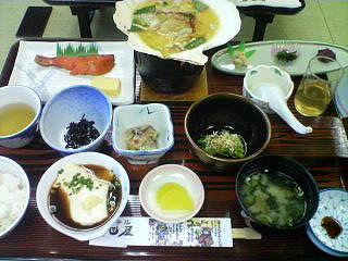 12月18日の朝ご飯:ホテル秋田屋(浅虫温泉)