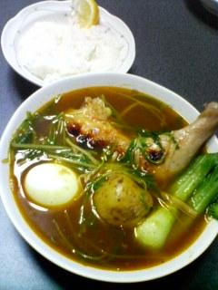 12月28日の夕ご飯:チキンレッグのスープカレー
