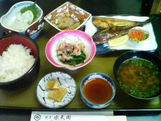12月29日の昼ご飯:水天閣(鰺ヶ沢)