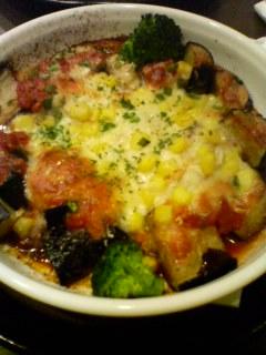 茄子とチキンのチーズ焼き