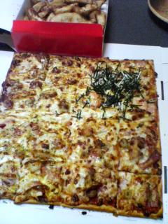 1月3日の夕ご飯:ピザ・ハット(弘前)
