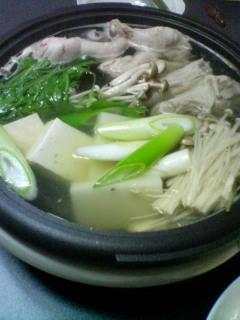 1月7日の夕ご飯:鶏の水炊き