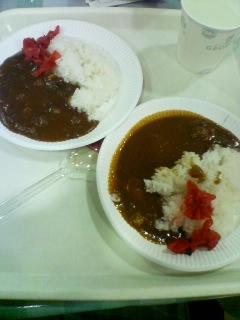 1月14日の昼ご飯:アスパムカレーまつり(青森)