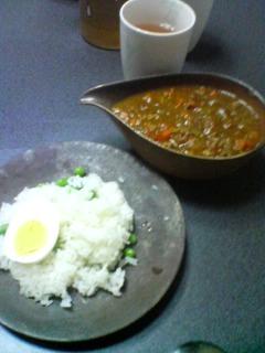 1月15日の夕ご飯:ひき肉カレー