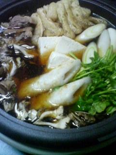2月1日の夕ご飯:きりたんぽ鍋