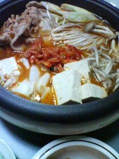 2月10日の夕ご飯:キムチ鍋