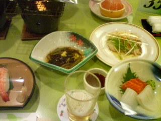 2月13日の夕ご飯:ホテル十和田荘(十和田湖)