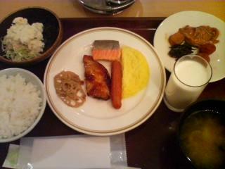 2月14日の朝ご飯:ホテル十和田荘(十和田湖)