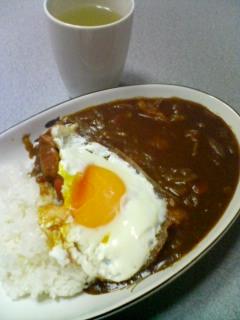 2月20日の夕ご飯:目玉焼きカレーライス