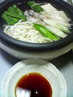 3月21日の夕ご飯:牡蠣の水炊き