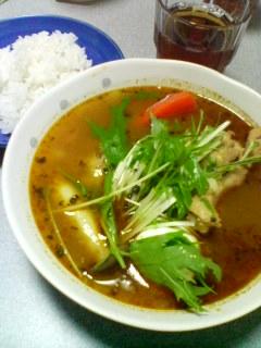 3月23日の夕ご飯:鶏手羽元のスープカレー